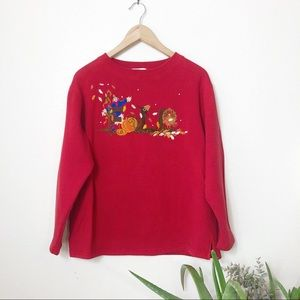 Vintage Red Fall sweatshirt